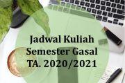 """Jadwal Kuliah Semester Gasal TA. 2020/2021  Fakultas Ekonomi dan Bisnis UPN """"Veteran"""" Jawa Timur"""