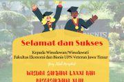 "Perwakilan Wisudawan /Wisudawati  Fakultas Ekonomi dan Bisnis UPN ""Veteran"" Jawa Timur Wisuda Sarjana LXXXI dan Pascasarjana XLIII"